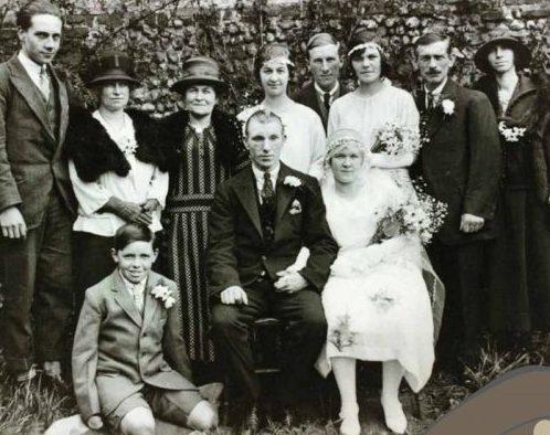 Charles Thomas at his wedding to Elsie Dora Dent