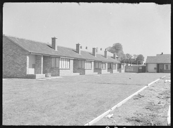 War memorial bungalows in Dagenham in 1955