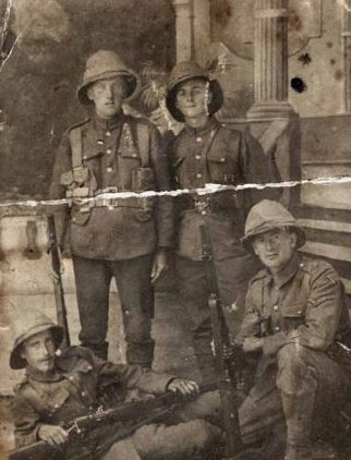 George Beale, kneeling on the right circa. 1917
