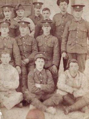 John Rhodes, bottom left, circa. 1914