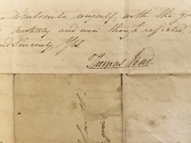 Letter signed by Thomas Stone