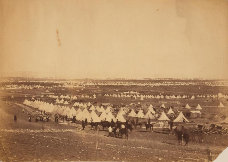 Photograph of camp by Roger Fenton